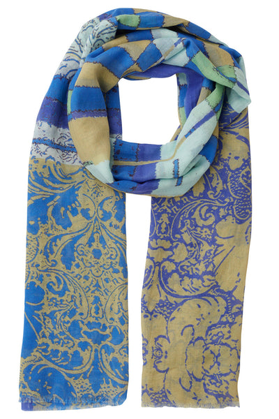 Blue Sage Tiled Scarf