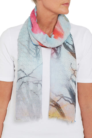 Aston Leaves & Branch Scarf