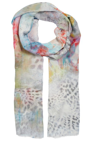 Anora Leopard Floral Scarf