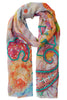 Henriette Embroidered Paisley Scarf