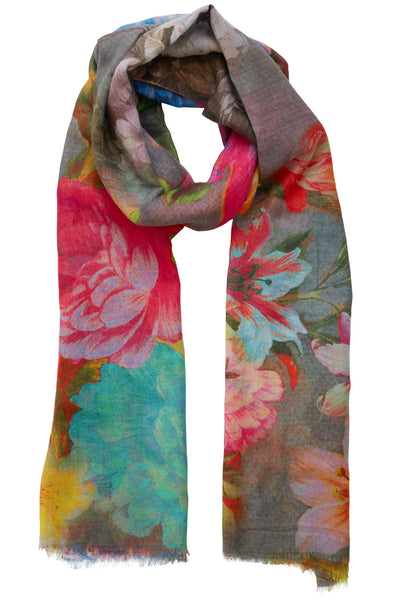 Holly Dark Floral Scarf