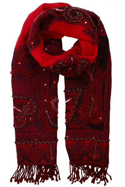 Haven Embroidered Scarf