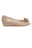 NICE PEEP TOE COURT WITH TRIM NUDE