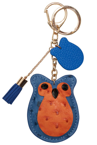 Blue & Orange Owl Keyring