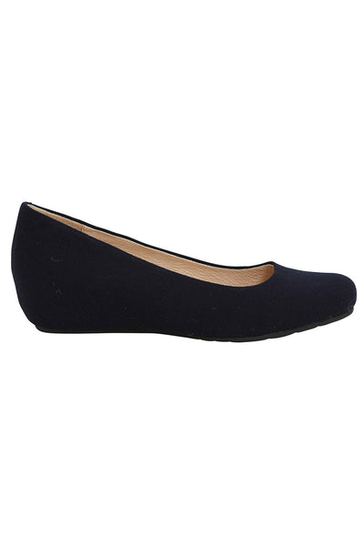 Nars Navy Hidden Wedge Ballet Flat