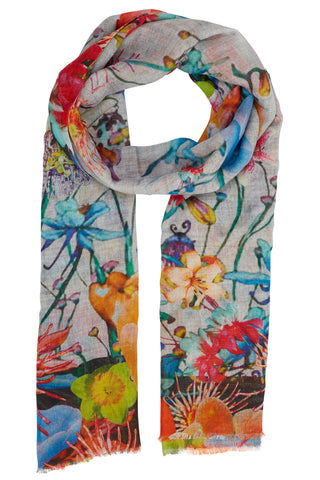 Hyvah Bright Digital Floral Scarf