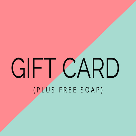 Gift Card With Free Soap