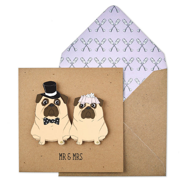 Mr & Mrs Wedding Pugs