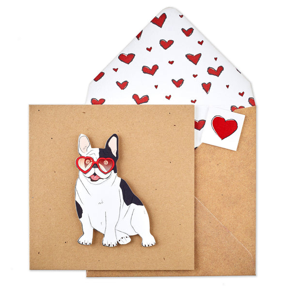 French Bulldog Heart Glasses - TACHE - 1