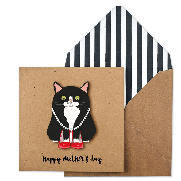 Mother's Day Black Cat