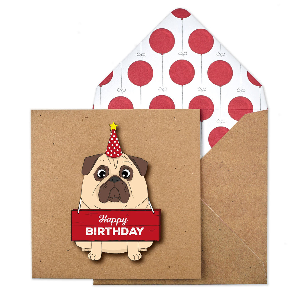 Happy Birthday Board Pug
