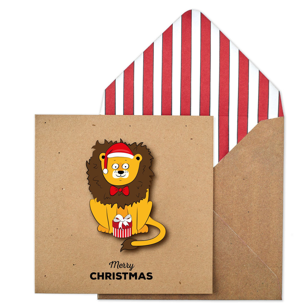 Merry Christmas Jungle Lion