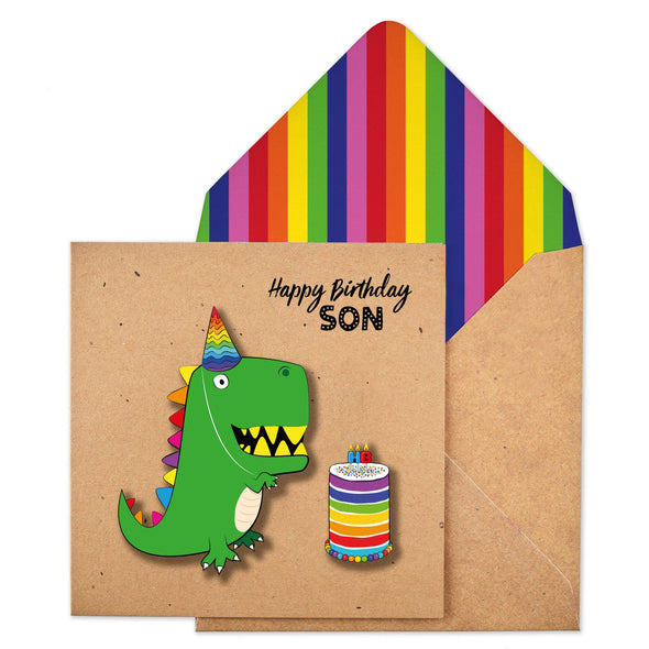 Happy Birthday Son Dinosaur