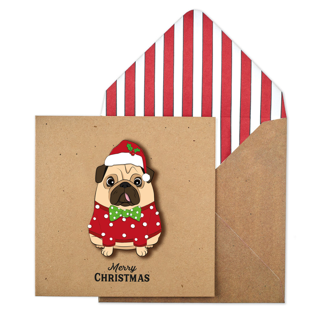 Alfie the Christmas Pug