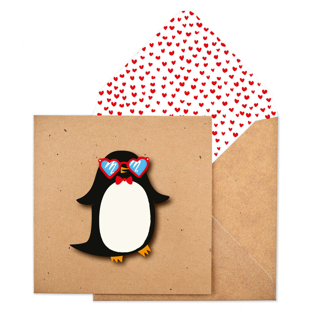 Heart Glasses Penguin