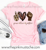 Peace Love Jusice Tee / Black Lives Matter Unity Collection / Unisex Bella Canvas Tee / 2T-Adult XXXL