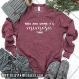 Rise and Shine, It's Mimosa Time Mineral Wash Sweatshirt / Christmas Sweatshirt