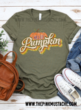 Hello Pumpkin Retro Fall Shirt/ Boutique Bella Canvas  Tee/ Fall Layering Tee / Teachers Tee Youth and Adult Sizing