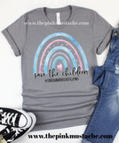 Save The Children Rainbow Bella Canvas Tee/ End Human Trafficking