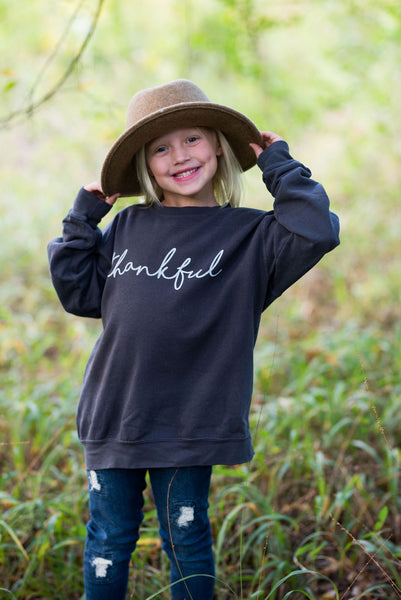 Thankful Sweatshirt - Youth and Adult Sizes Available - Oversized