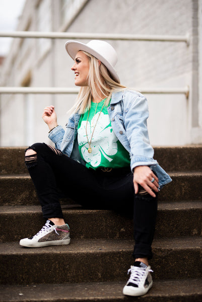 Lucky Clover Tee / St Patty's Day Bella Tee