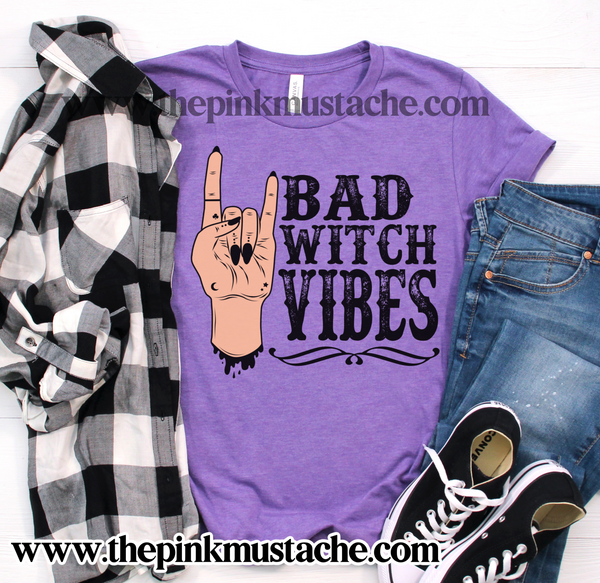 Bad Witch Vibes Tee/ Halloween Shirt