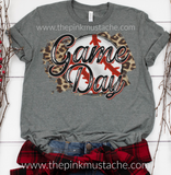 Baseball Game Day Leopard Tee / Baseballl T-Shirt / Baseball Spirit Wear / Cheetah