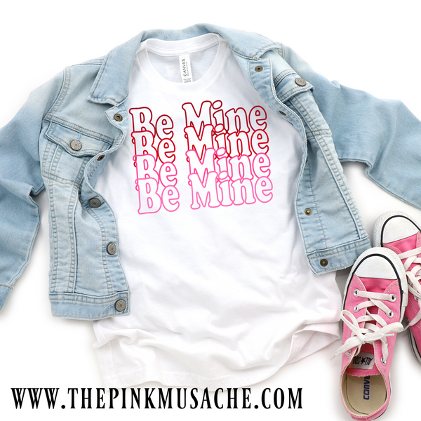Toddler and Girls Be Mine Valentines Day Tee 2T-Youth L