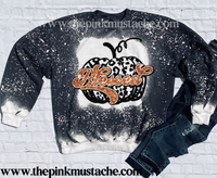 Bleached Blessed Pumpkin Sweatshirt Youth and Adult Sizing / Boutique Sweatshirt