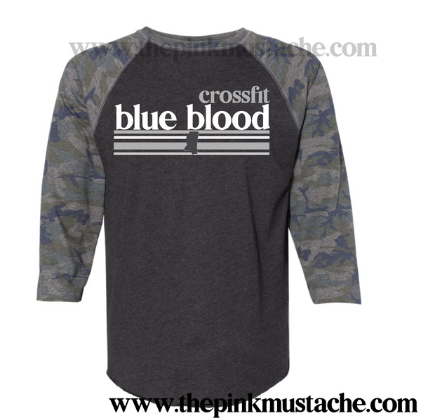 CFBB - Crossfit Blue Blood - Raglan - Camo Raglans - 2T-3XL