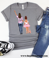 Custom Dance Mom and Family Watercolor Bella T-Shirts/ Unisex sized Bella Canvas Shirts/ Ballerina Shirts/ Dance Mom