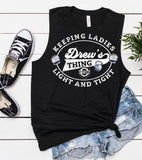 CFBB - Crossfit Blue Blood - Drews Thing - Keeping Ladies Light and Tight - in Muscle Tanks and Crops