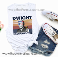 Drinking Presidents Collection Dwight Eisenhangover Muscle Tank / Muscle Tank Top / Mens or Womens Cut Tank Available/ Dwight Eisenhower