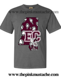 East Central Hornets Comfort Colors Long Sleeve Or Short Sleeve Shirt / Mississippi School Shirt