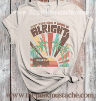 Every Little Thing Is Going To Be All Right Hippie Retro Tee / Bella Canvas Softstyle Shirt