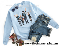 Custom Family Watercolor Football Oversized Sweatshirts/ Unisex sized Sweatshirts/ DTG printed Sweatshirts