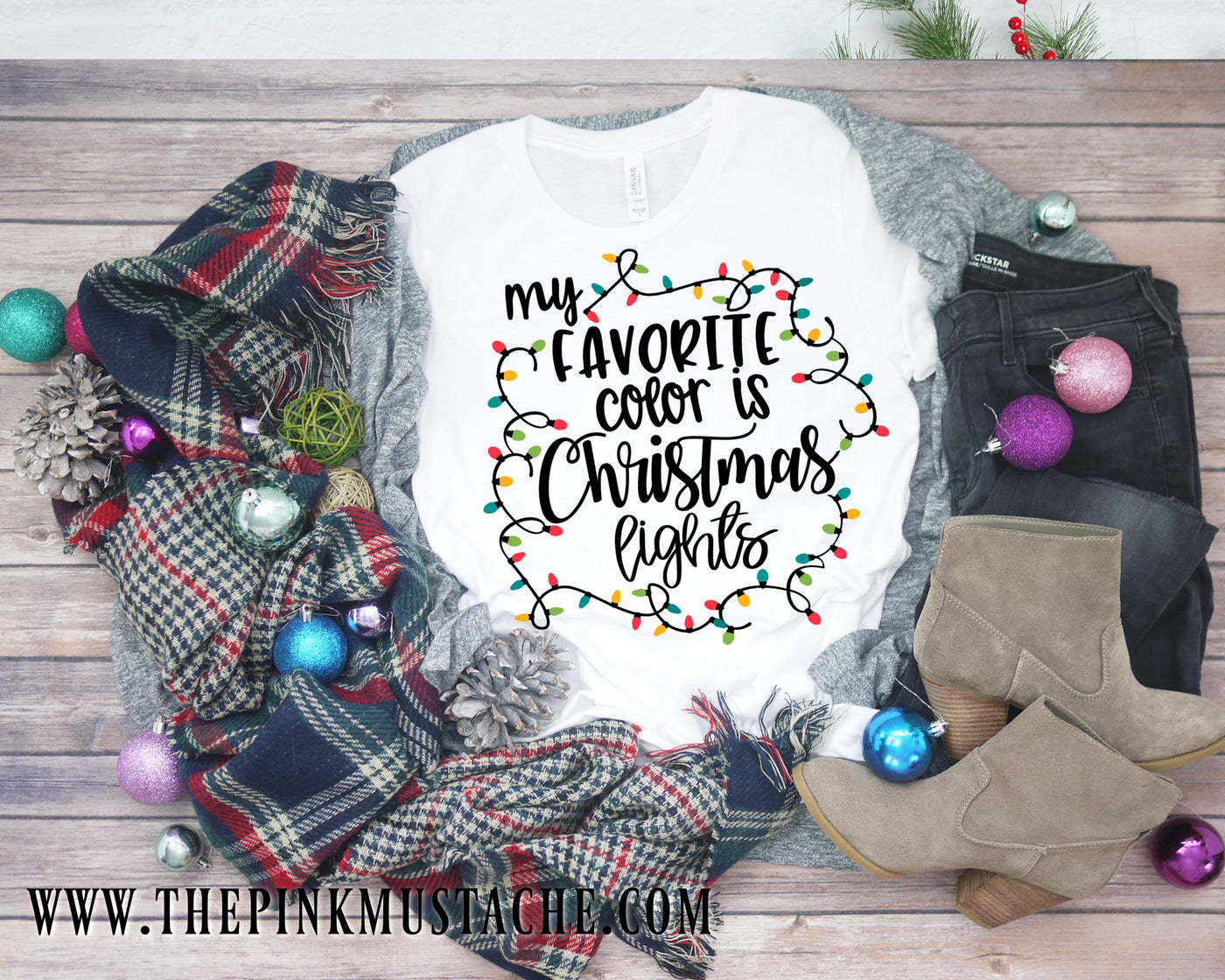 My Favorite Color Is Christmas Lights Shirt Youth And Adult Sizing