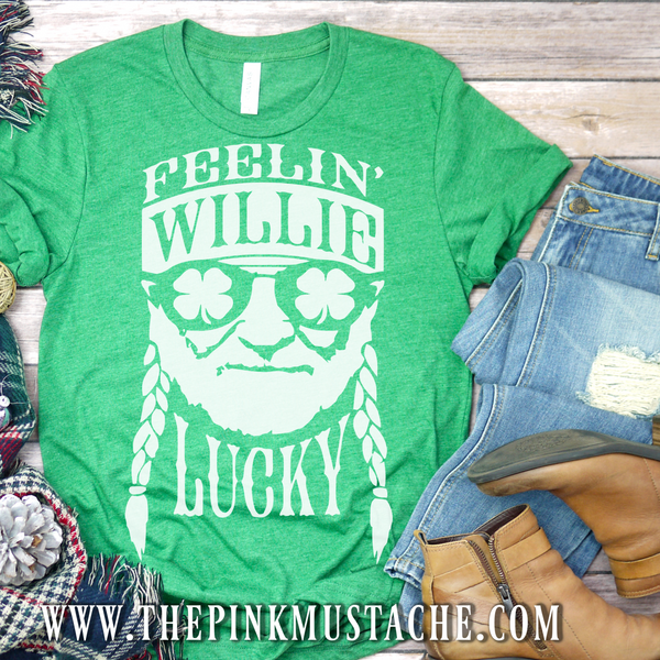 Feelin' Willie Lucky St. Patrick's Day Shirt SALE - Quick Shipping