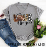 For The Love of the Game Football V-Neck T-Shirt