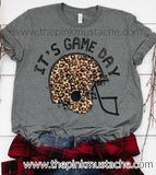 It's Game Day Tee / It's GameDay Football Helmet Shirt / Leopard Print Bella Canvas / Football Shirt / Football Mom / Football Girlfriend