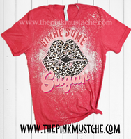 Gimme Some Sugar Retro Vintage Western Valentines Day Softstyle Shirt -  Bleached  Red  Tee/ Unisex Sized Tee / Valentines Day Shirt