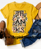 Give Thanks Bella Canvas Fall T-Shirt/ Fall Shirts for Moms and Kids