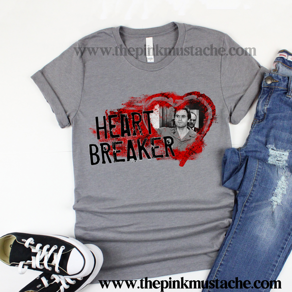 Ted Bundy Heart Breaker Tee/ Bella Canvas Shirt/ Serial Killer Tees / Halloween Shirt