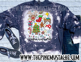Bleached Christmas Is My Favorite - Sweatshirt / Christmas Favorite Things Hand Bleached Sweatshirt - DTG Printed