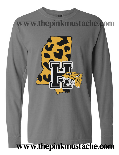 Hernando Tigers Comfort Colors Long Sleeve Or Short Sleeve Shirt / DC -Desoto County Schools / Mississippi School Shirt