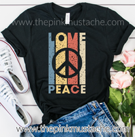 Peace and Love Hippie Tee / Bella Canvas / Peace Love Tee
