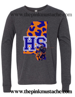 Hope Sullivan Chargers Comfort Colors Long Sleeve Or Short Sleeve Shirt / DC -Desoto County Schools / Mississippi School Shirt