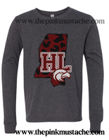 Horn Lake Eagles Comfort Colors Long Sleeve Or Short Sleeve Shirt / DC -Desoto County Schools / Mississippi School Shirt