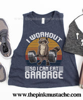 I Workout So I Can Eat Garbage Cropped Tank Top / Workout Tank / Fitness Tanks/ Crossfit Tank