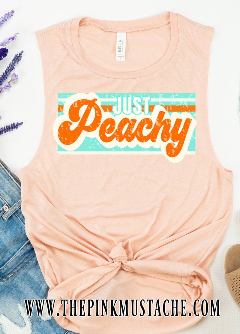 Just Peachy Tank Top / Graphic Tank Top